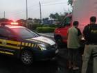 Após acidente, motorista é flagrado com CNH falsa na Dutra, em Itatiaia