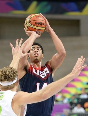 Anthony Davis, Eslovênia X Estados Unidos - Mundial de Basquete (Foto: Divulgação / FIBA)