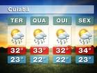Meteorologia prevê terça-feira de calor e possibilidade de chuva em MT