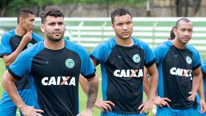 Alex Alves ao lado de Dodô na pré-temporada do Goiás (Foto: Rosiron Rodrigues / Goiás E.C.)