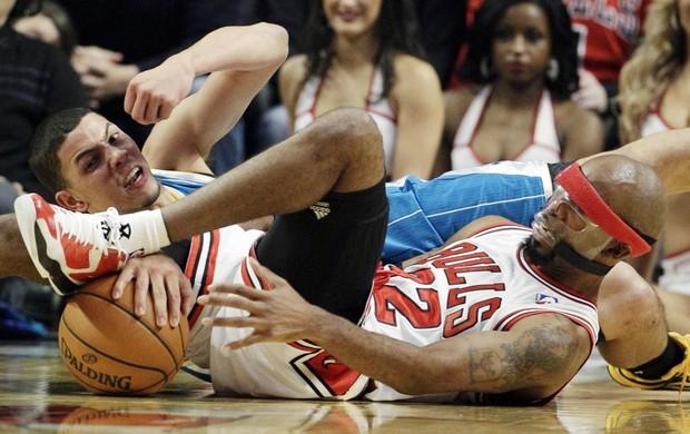 Bulls x Hornets NBA (Foto: AP)