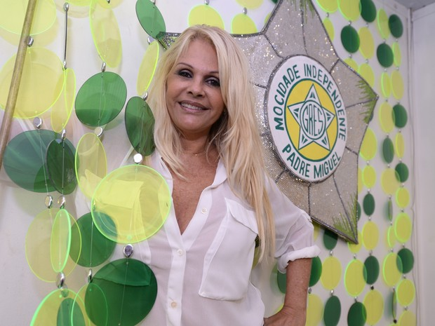 Monique Evans  (Foto: Diego Mendes/Divulgação/Mocidade Independente)