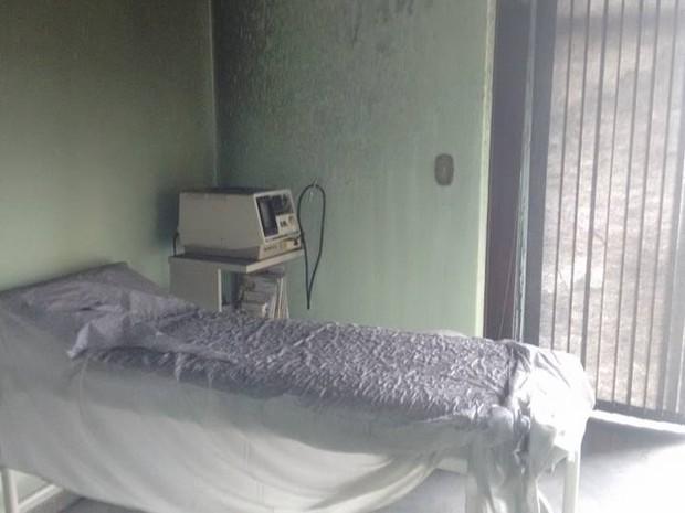 No local, funciona um consultório médico (Foto: Base Comunitária de Bombeiros/Cedida)