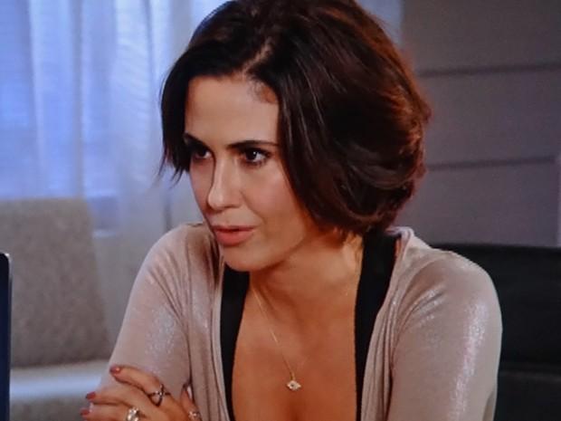 Manoela procura advogada para chantagear Fábio (Foto: Guerra dos Sexos/ TV Globo)