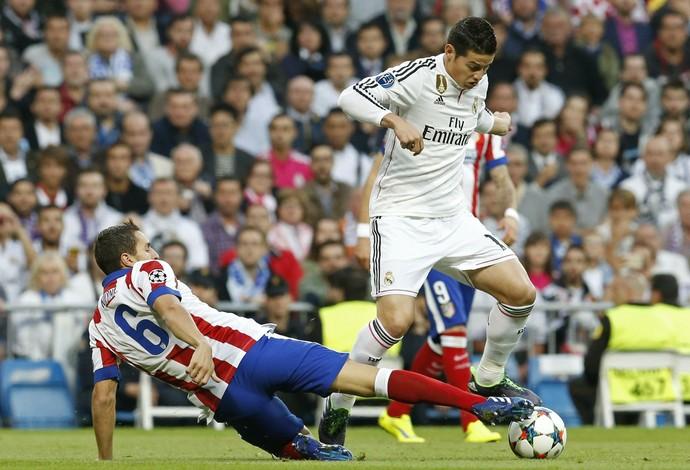 James Rodríguez Real Madrid x Atletico de Madrid (Foto: EFE)