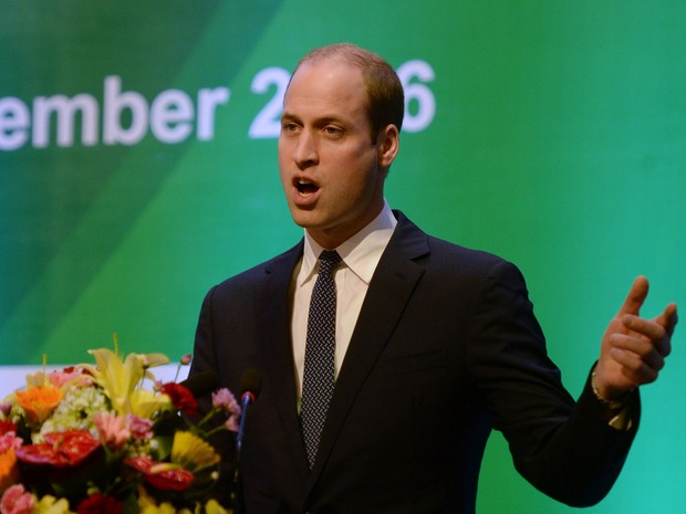 Príncipe William faz discurso em abertura de conferência em Hanói, no Vietnã  (Foto: Hoang Dinh Nam / AFP)