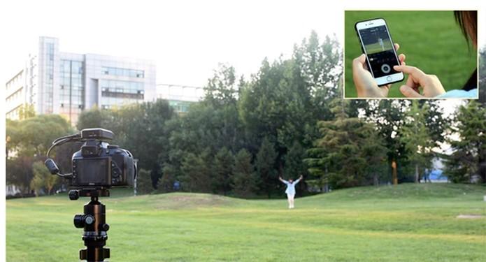 Use o celular como controle remoto para registrar selfies e fotos à distância (Foto: Divulgação/Kickstarter)