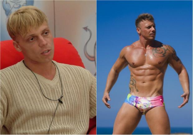 Antes e depois de Cristiano Carnavale (Foto: Globo e Anderson Barros/EGO)