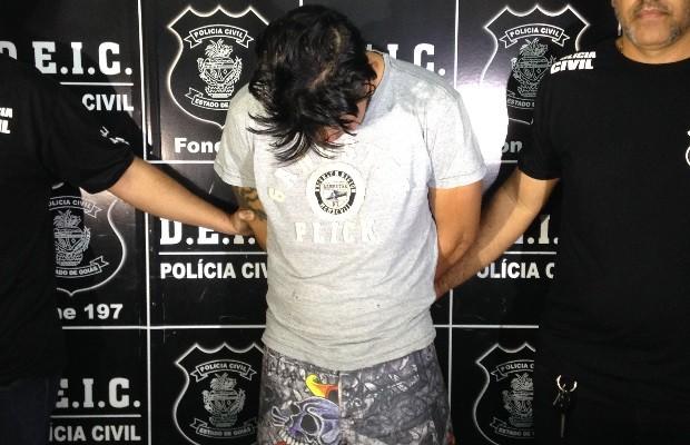Preso suspeito de furtar documentos e extorquir advogado em Goiânia Goiás (Foto: Luísa Gomes/G1)