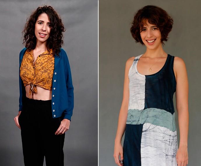 Mudança radical! Flora Diegues cortou os fios bem curtos para dar vida a Bianca em nova fase (Foto: Inácio Moraes/Fábio Rocha/Gshow)