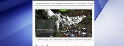 Jornal Colombiano diz que plano de voo da Chapecoense foi questionado