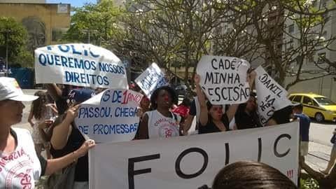 Manifestação contra a Folic