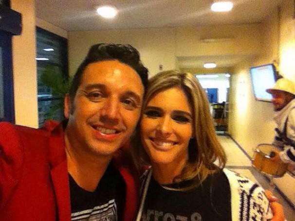 Raule não foi o único a tietar a apresentadora! Fabiano Cordoni também garantiu seu registro ao lado da gaúcha (Foto: Arquivo pessoal)