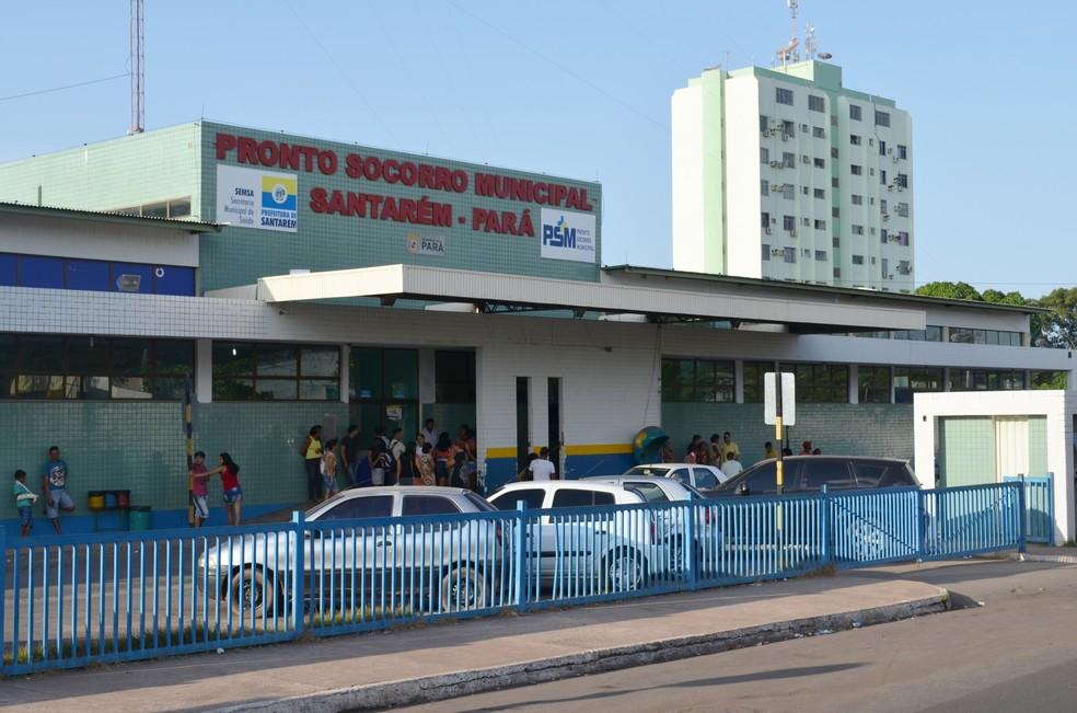 Pronto Socorro de Santarém recebe pacientes de outros municípios (Foto: Adonias Silva/G1)