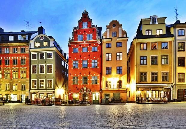 Centro da cidade de Estocolmo , na Suécia (Foto: Divulgação)