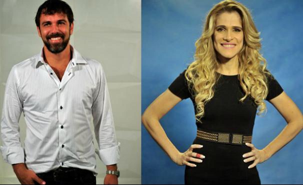 Marcelo Faria e Ingrid Guimarães (Foto: Arte TV Liberal)