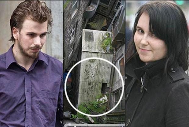 Em 2010, uma jovem caiu nua do telhado durante um encontro secreto com o amante em um prédio abandonado em Aberdeen, na Escócia, e precisou ser resgatada pelos bombeiros.  (Foto: Reprodução)