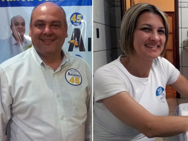 Os candidatos Alexandre Ferreira e Graciela Ambrósio disputarão o segundo turno em Franca, SP (Foto: Rodolfo Tiengo/G1)
