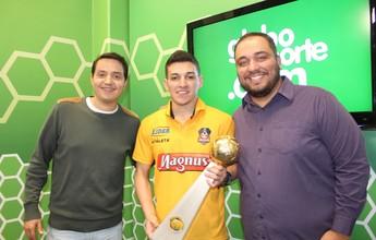 Campeão mundial duas vezes, goleiro Luan é o convidado do programa