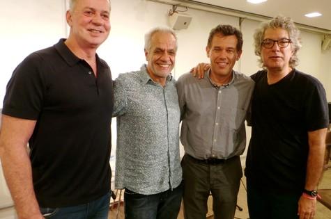 Luiz Fernando Guimarães, Perfeito Fortuna, Hamilton Vaz Pereira e Nilton Bonder (Foto: Divulgação)