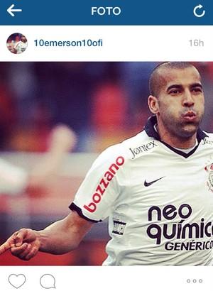 Emerson Sheik Corinthians no Instagram (Foto: reprodução)
