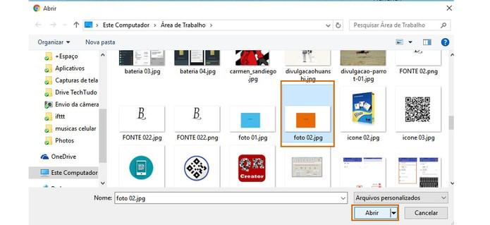 Selecione no computador a nova foto de perfil do WhatsApp (Foto: Reprodução/Barbara Mannara)