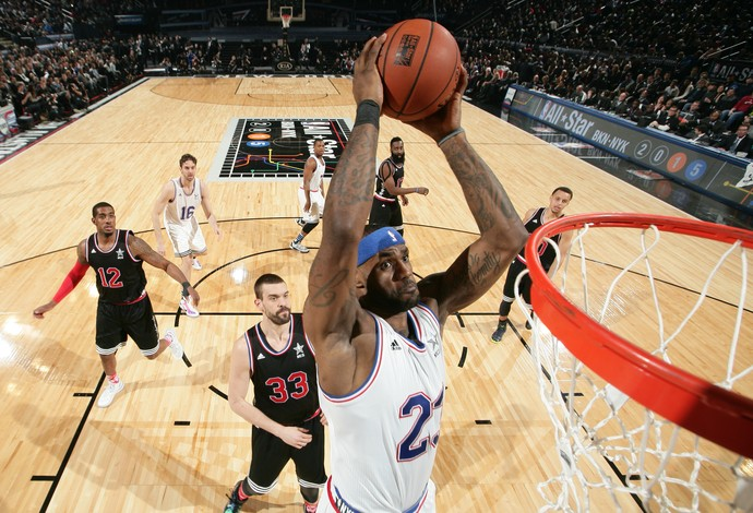 Lebron James, All Star Game, Basquete, NBA (Foto: Getty Images)