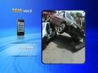 Motorista dá marcha à ré e sobe em carro estacionado em rua de Itu