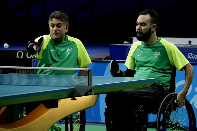 Iranildo Espíndola e Guilherme Costa Tênis de Mesa Paralimpíada (Foto: CPB)