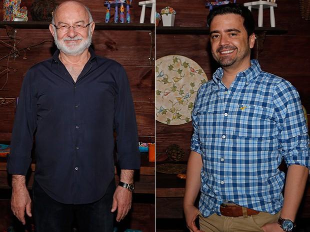 Silvio de Abreu e Daniel Ortiz: parceria que promete (Foto: Artur Meninea/ Gshow)