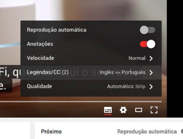 Opções do vídeo (Foto: Reprodução/André Sugai)