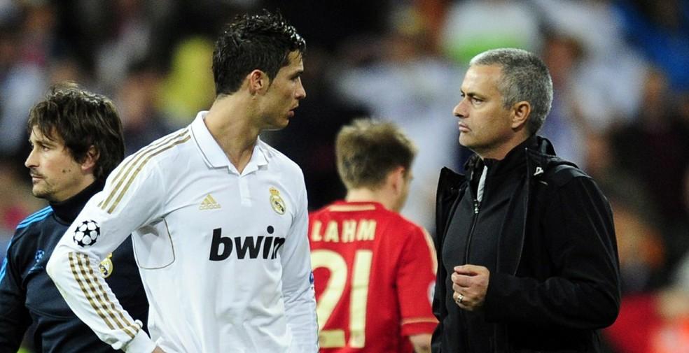 José Mourinho e Cristiano Ronaldo trabalharam juntos no Real Madrid (Foto: AFP)