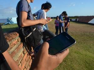 pokemon go, fortaleza, visitas, ponto turístico, games, Macapá, Amapá (Foto: Jorge Abreu/ G1)