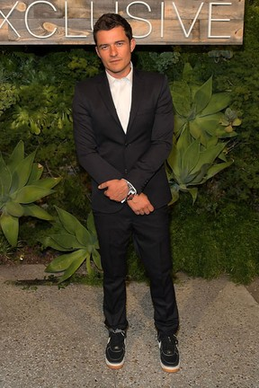 Orlando Bloom em evento de moda em Los Angeles, nos Estados Unidos (Foto: Charley Gallay/ Getty Images/ AFP)