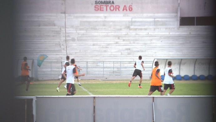 Treino secreto do Campinense no Amigão (Foto: Reprodução / TV Paraíba)