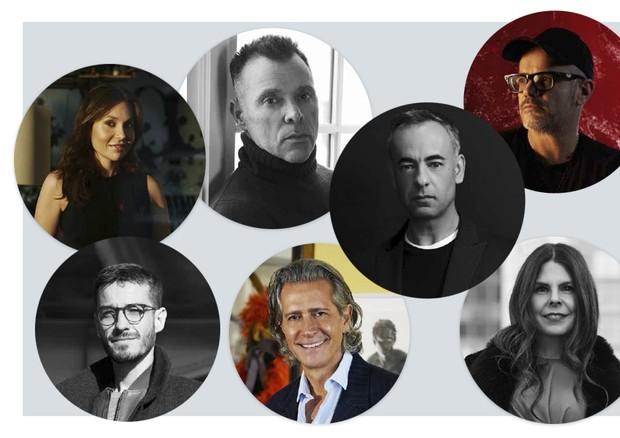 Francisco Costa, Giovanni Bianco, Carlos Motta, Caca de Souza, Maria Brito, Fabiola Bercasa, George Cortina (Foto: Reprodução)