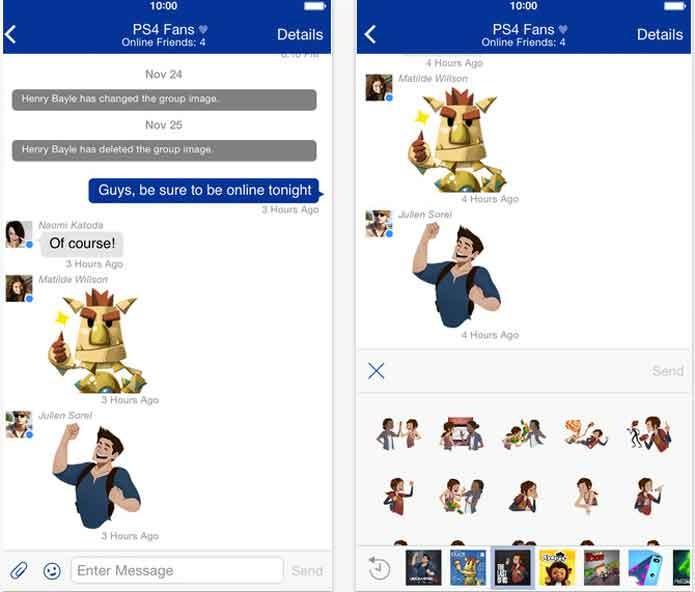 Exemplo de conversa do PS Messages (Foto: Divulgação/Sony)