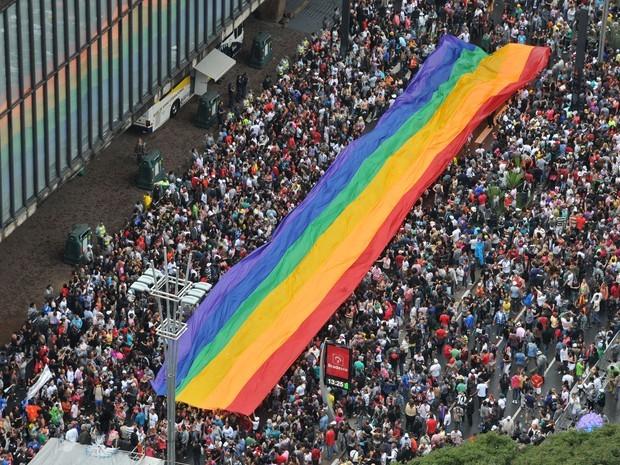 Em 2013, a Parada Gay reuniu cerca de 3 milhões de pessoas (Foto: J. Duran Machfee/Futura Press/Estadão Conteúdo)