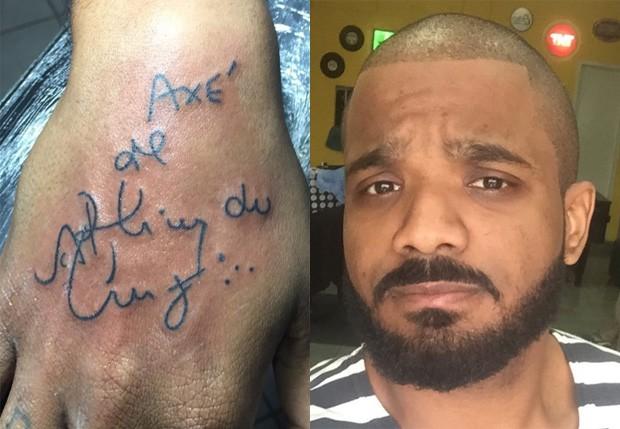 Arlindinho tatua homenagem ao pai (Foto: Reprodução/Instagram)