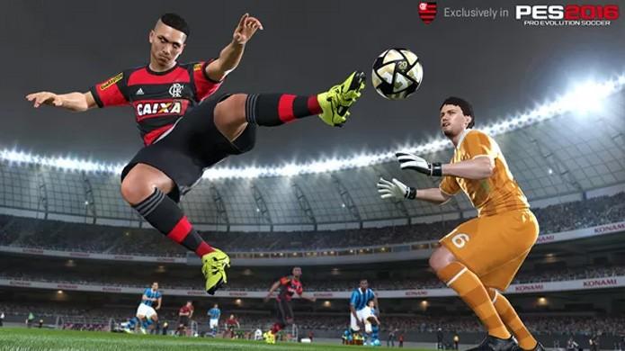 Flamengo, um dos times exclusivos de PES 2016, terá seu uniforme atualizado (Foto: Divulgação/Konami)