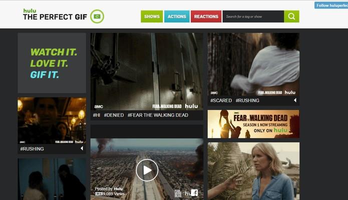 Hulu The Perfect Gif permite fazer o download do GIF ou postar em redes sociais (Foto: Reprodução/Barbara Mannara)