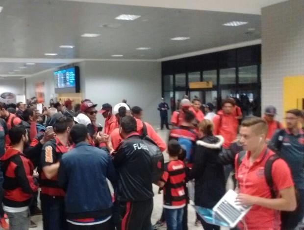 Desembarque do Flamengo em Curitiba
