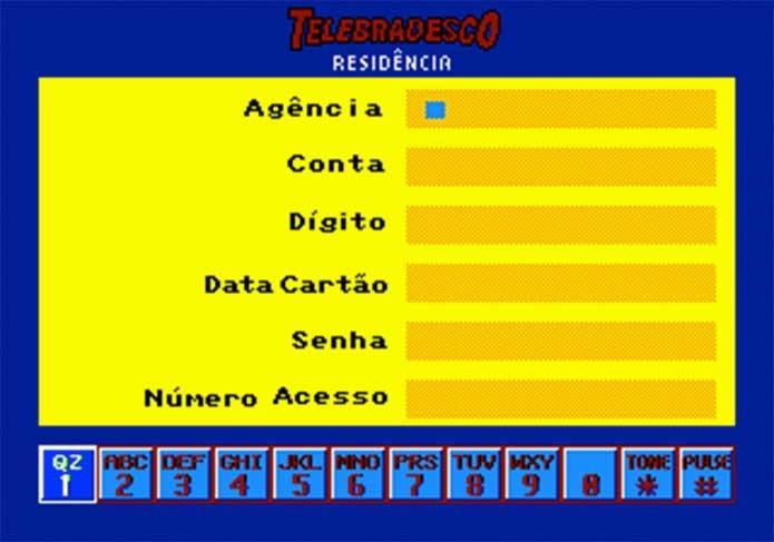 O Telebradesco deixava acessar a conta do banco no videogame (Foto: Reprodução/EmuParadise)