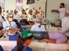 Visitantes ganham massagem e limpeza de pele na 5ª RO Rural Show