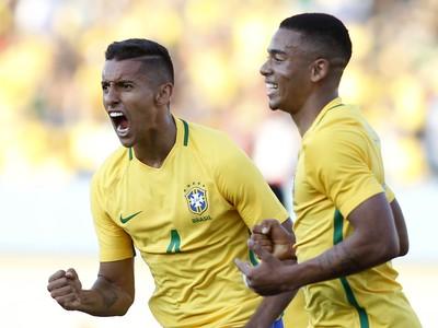 marquinhos gabriel jesus brasil japão gol (Foto: ADALBERTO MARQUES / Agência Estado)