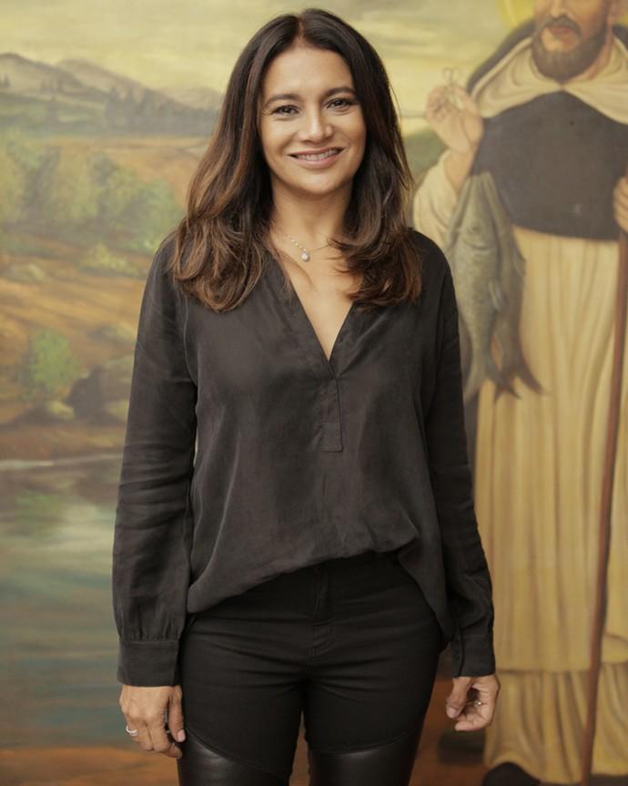 Dira Paes, a intérprete de Beatriz, comparece ao evento (Foto: Inácio Moraes/ Gshow)