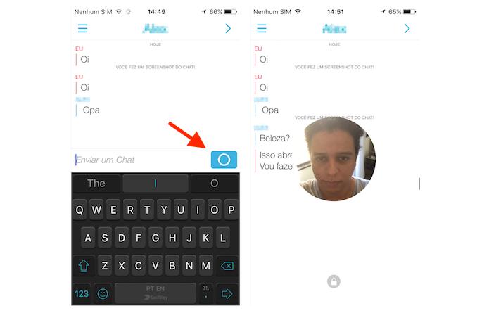 Iniciando um chat de vídeo ao vivo no Snapchat (Foto: Reprodução/Marvin Costa)