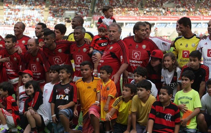 Jogo das Estrelas - Leo Moura, Romário, Zico (Foto: Fabiano Rocha/Agência O Globo)