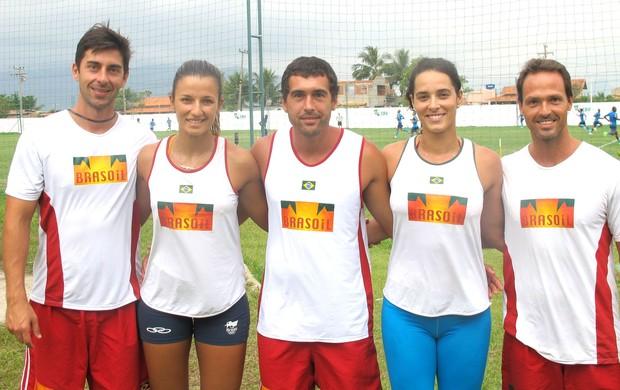 Renan Rippel, Bárbara, Ricardo, Ágatha e Guilherme Zuzart (Foto: Thales Soares / Globoesporte.com)