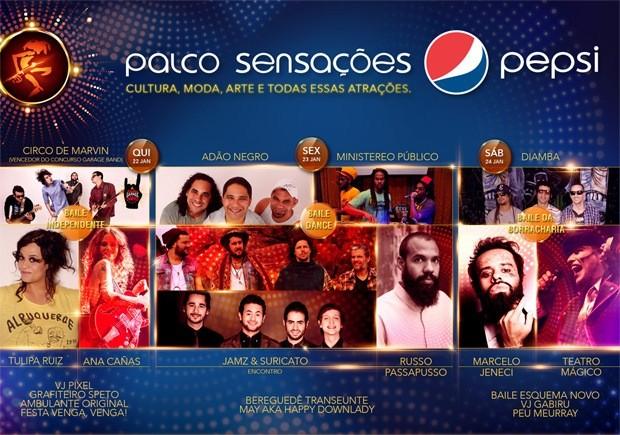 Grade do Palco Sensações Pepsi (Foto: Divulgação)